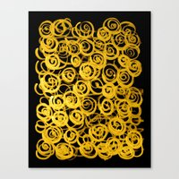 pasta Canvas Prints featuring pasta by clemm