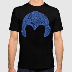 Mega Man Typography Black MEDIUM Mens Fitted Tee