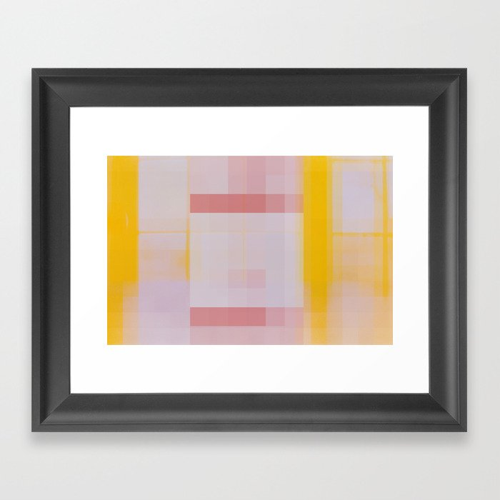 That Door Wasn't Yellow When I Went To Bed Last Night Framed Art Print