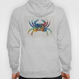 Colorful Crab Art by Sharon Cummings Hoody