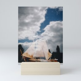 Double Exposure Photo of Clouds in a Ship in Schokland I, Holland/The Netherlands | Fine Art Colorful Travel Photography |  Mini Art Print