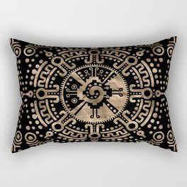 Hunab Ku Gold on black Rectangular Pillow