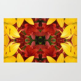 """""""A Gathering of Lilies"""" Remix - 4 (2-1) [D4469~57] Rug"""