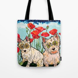 West Highland Terriers by RobiniArt Tote Bag