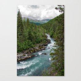 Alaska River Canyon - II Canvas Print