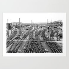All Trains Lead to Vienna Art Print