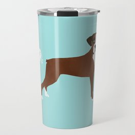 Boxer funny fart dog pure breed gifts dog lovers Travel Mug