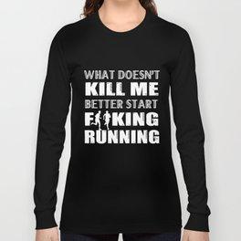 Running T-Shirt Funny F Running Tee Gift For Runner Long Sleeve T-shirt