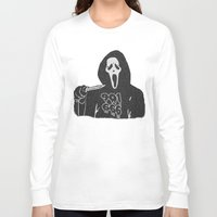 memphis Long Sleeve T-shirts featuring Scream Memphis by negativecreep