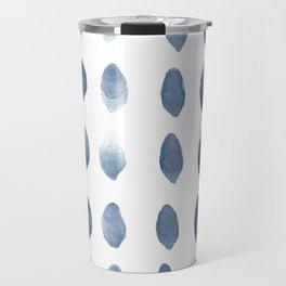 Minimalist Scandinavian Navy blue wall art print Travel Mug