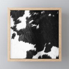 Modern Cowhide Framed Mini Art Print