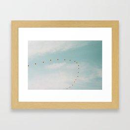 Balloons in the Sky 2 Framed Art Print