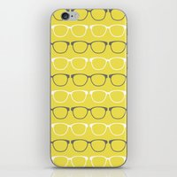 glasses iPhone & iPod Skins featuring Glasses by C Designz