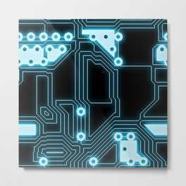 A completely seamless background design circuitry Metal Print