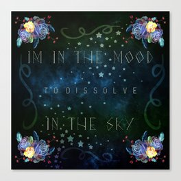 Dissolve in the sky Canvas Print