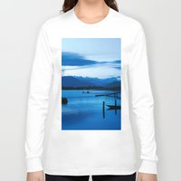 buddhism Long Sleeve T-shirts featuring BLUE VIETNAMESE MEDITATION  by CAPTAINSILVA
