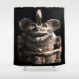 Zapotec Bat Figure Shower Curtain