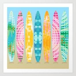 Tie Dye Surfboards Art Print