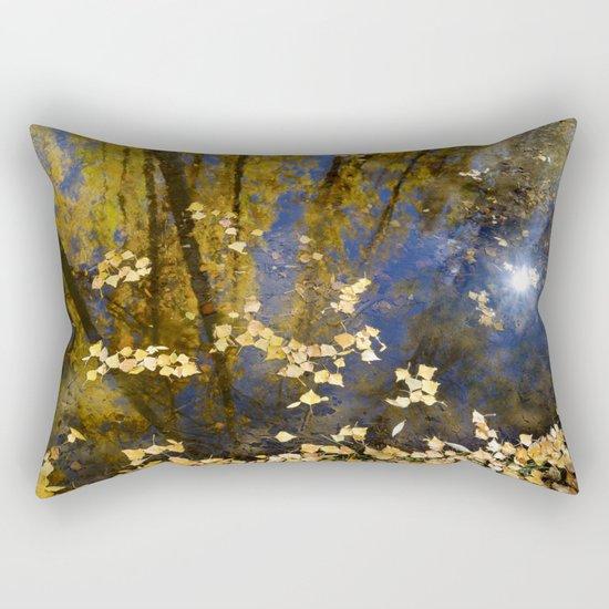 """""""Wild water.... Dream forest..."""" Rectangular Pillow"""