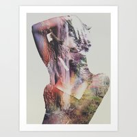Art Prints featuring Wilderness Heart by Andreas Lie