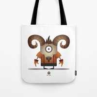 aries Tote Bags featuring ARIES by Angelo Cerantola