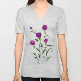 You Know What Freud Said About Carnations Unisex V-Neck