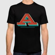 A is for... Anything Black Mens Fitted Tee MEDIUM