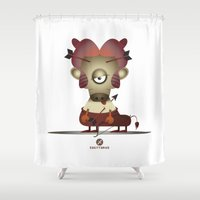 sagittarius Shower Curtains featuring SAGITTARIUS by Angelo Cerantola
