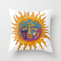 sublime Throw Pillows featuring Sublime  by Sammy Cee