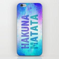 Hakuna Matata III iPhone & iPod Skin