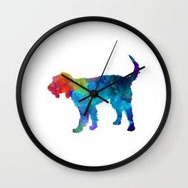 Griffon Nivernais in watercolor Wall Clock
