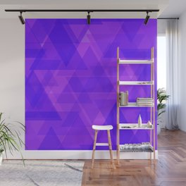 Bright purple triangles in intersection and overlay. Wall Mural