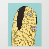 the dude Canvas Prints featuring Dude by MALKERM