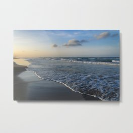Summer sunset on the beach Metal Print