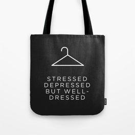 Well Dressed (Black) Tote Bag