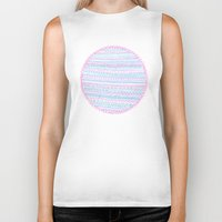 circle Biker Tanks featuring Circle by Madi
