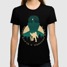 Bioshock Black Womens Fitted Tee LARGE