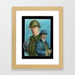 Watson and Sherlock Framed Art Print