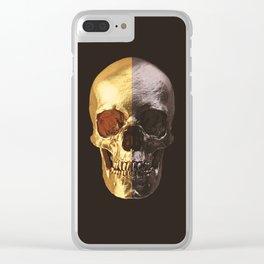 Gold & Black Scull Clear iPhone Case
