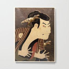 Kabuki Actor Otani Oniji As A T-Rex Metal Print