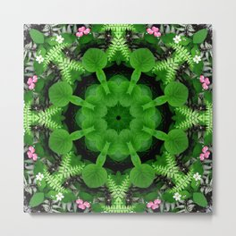 Fern and friends kaleidoscope, mandala - Maidenhair, Adiantum 900 kal 16 Metal Print