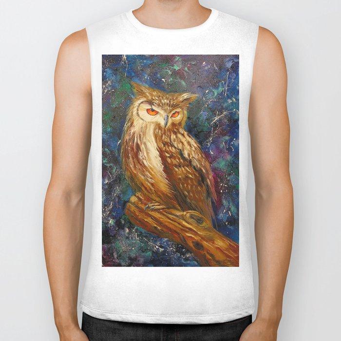 Wise owl Biker Tank