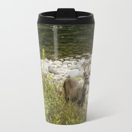 Handsome Deer on an Island No. 1 Travel Mug