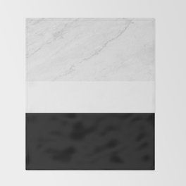 Marble Black White Throw Blanket