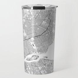 Detroit White Map Travel Mug