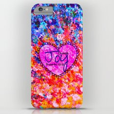 CHOOSE JOY Christian Art Abstract Painting Typography Happy Colorful Splash Heart Proverbs Scripture iPhone 6s Plus Slim Case