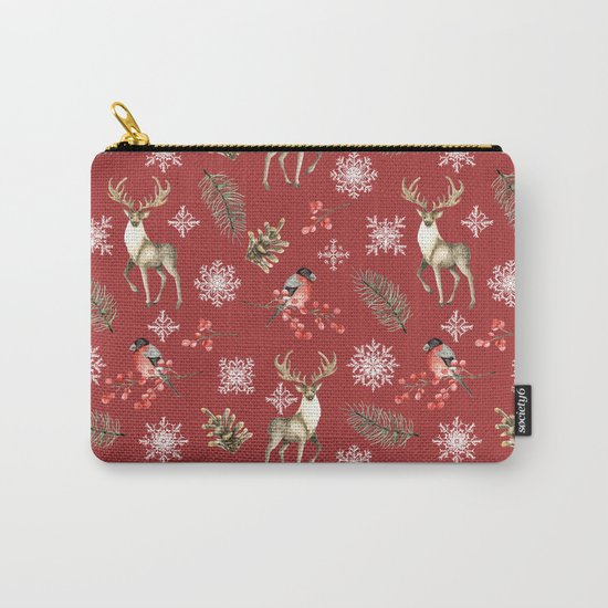Deer and bullfinches Carry-All Pouch