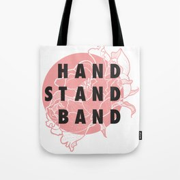 Handstand Band Pink Tote Bag