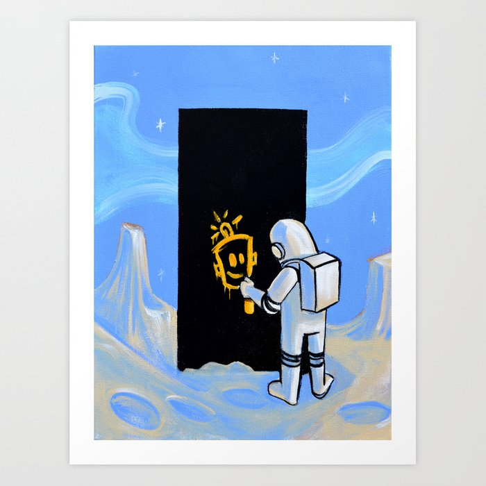 Happy In Space Art Print