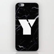 Black Marble - Alphabet Y iPhone & iPod Skin